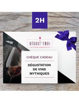 Chèque cadeau bouteilles mythiques de Bourgogne