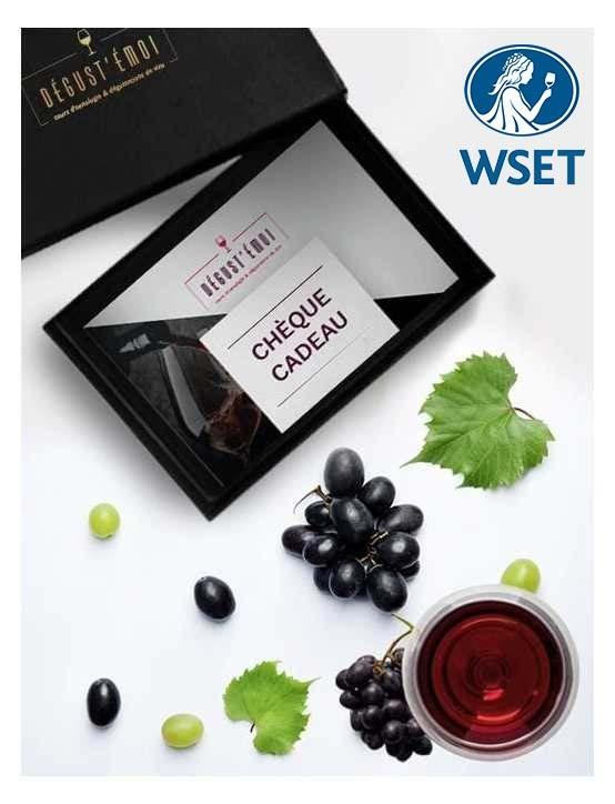 Chèque cadeau formation WSET Niveau 1 en vins