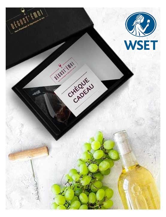 Chèque cadeau formation WSET Niveau 2 en vins