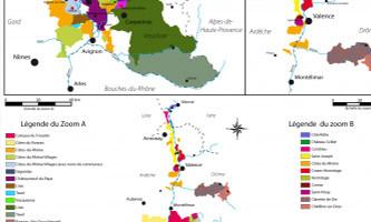 La région de l'appellation Côte-rôtie