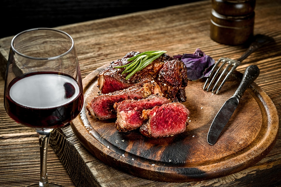 interactions gustatives : Mariage entre la viande rouge et le vin