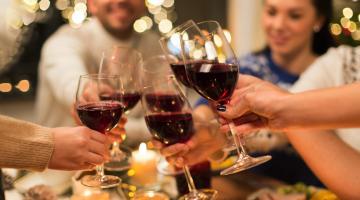Du vin comme cadeau de Noël