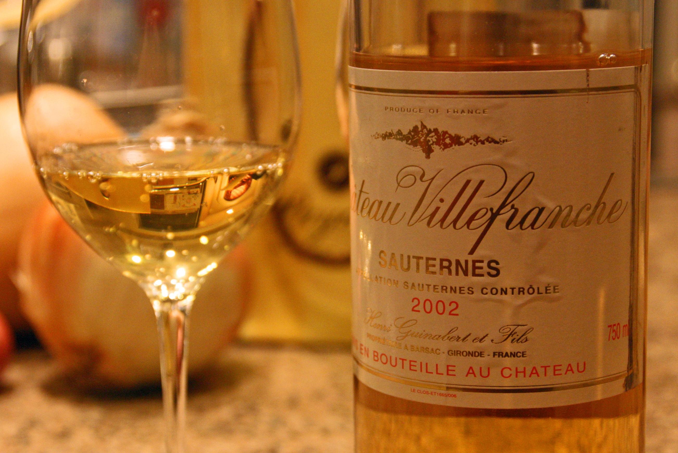 vins moelleux - Sauternes 2002