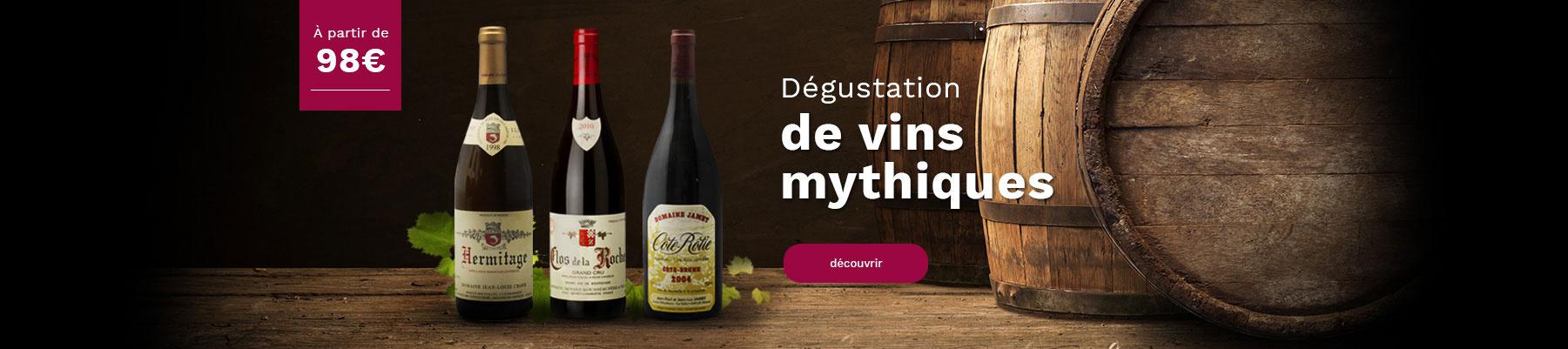 Dégustations de vins mythiques cours oenologie