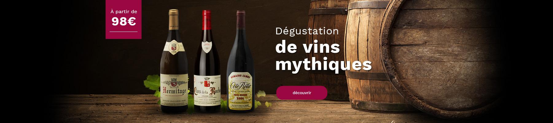 Dégustations de vins mythiques et cours oenologie